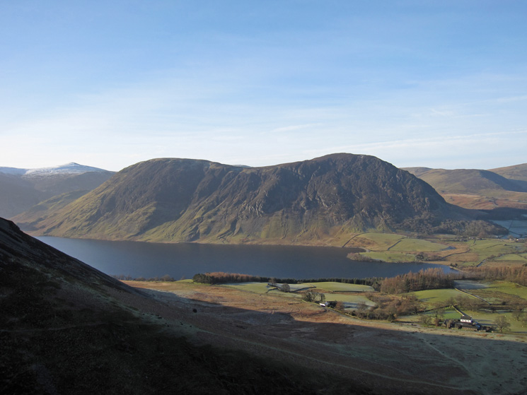 Mellbreak and Crummock Water from the climb up Whin Ben