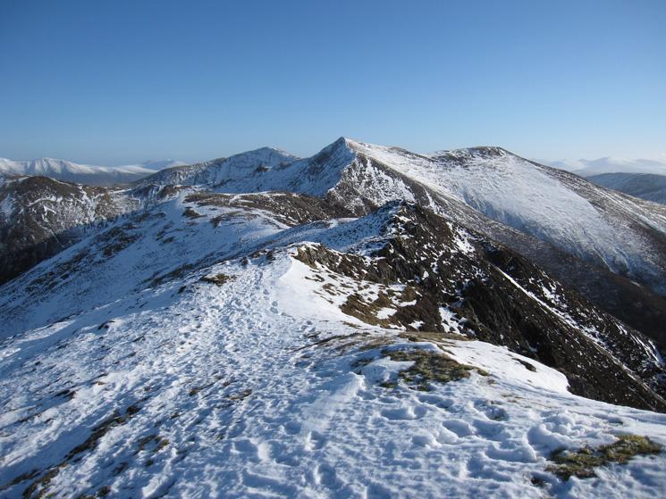 On the ridge, looking towards Hopegill Head