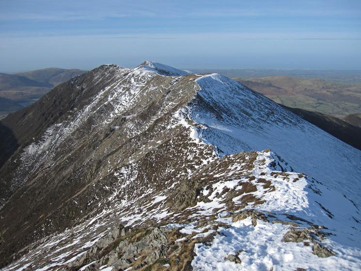Looking back along the ridge towards Whiteside