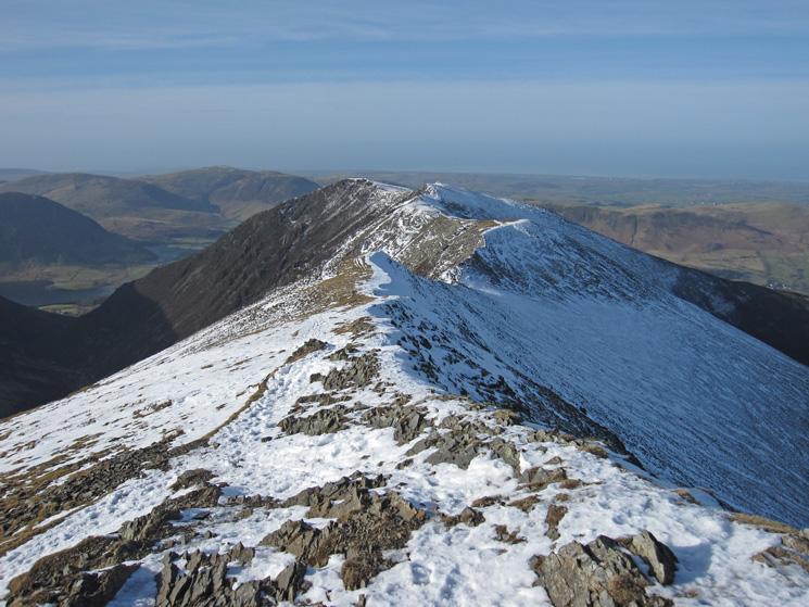 Towards Whiteside from Hopegill Head's summit, a great ridge walk