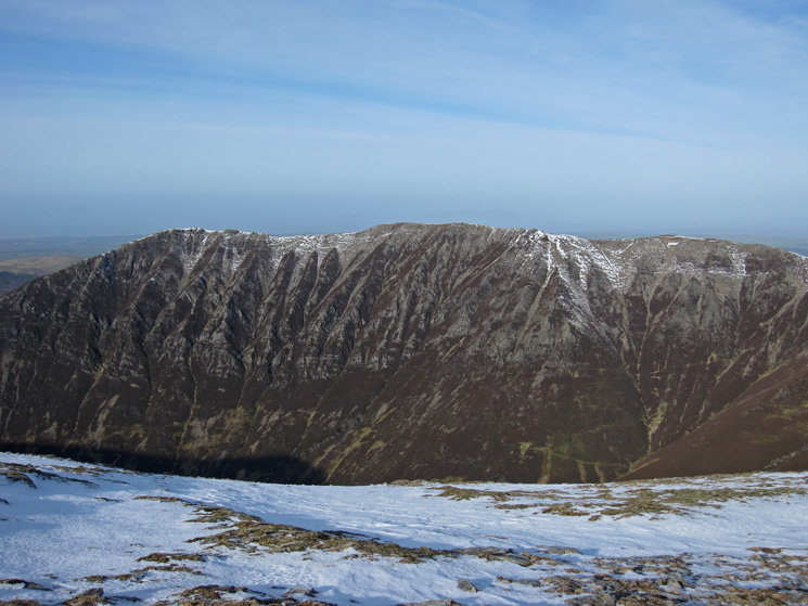 The Whiteside to Hopegill Head (out of shot) ridge and Gasgale Crags