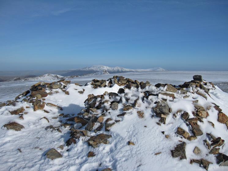 Grasmoor's summit cairn