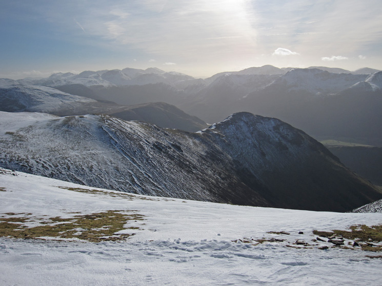 Whiteless Pike and the view south