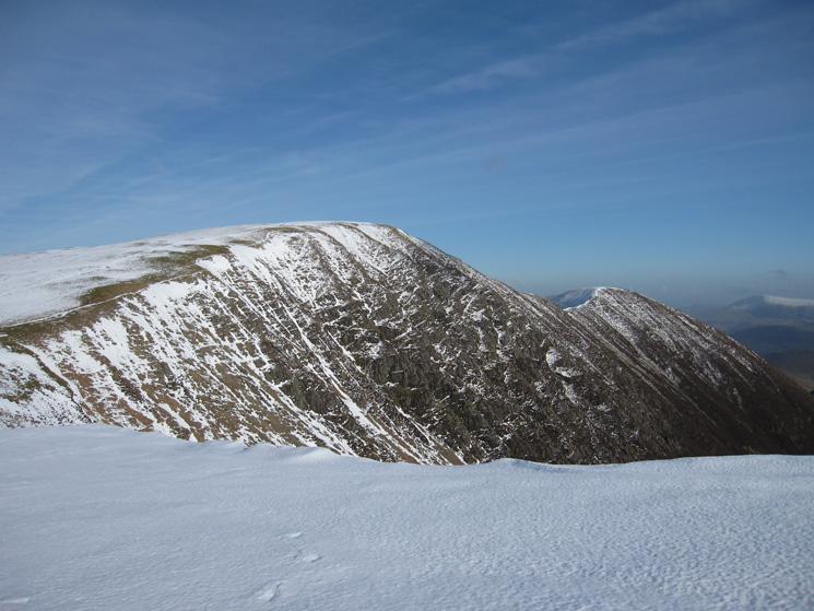 Looking back to Crag Hill with Sail on the right