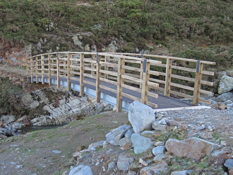 The new bridge over Liza Beck