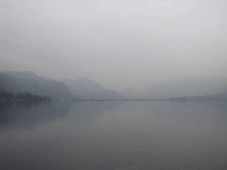 Up Derwent Water, not the best day for long distance views