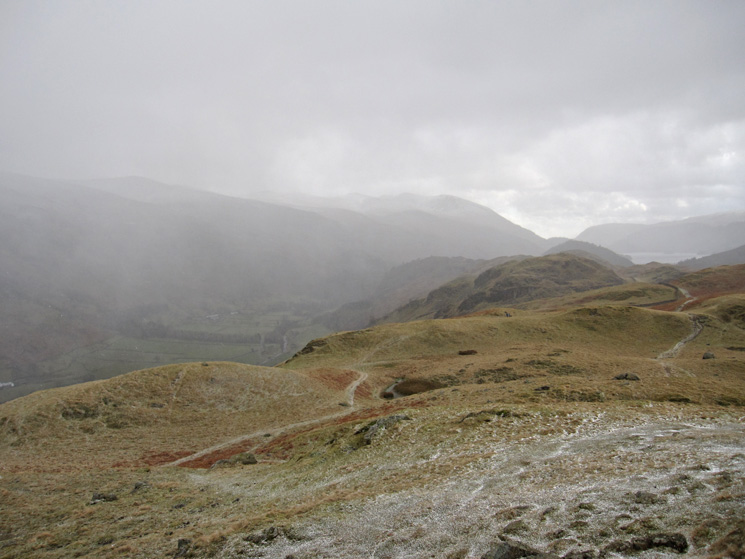 South from High Rigg's summit