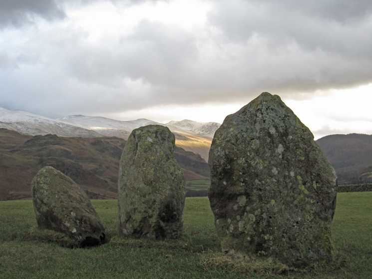 Towards Helvellyn from Castlerigg Stone Circle