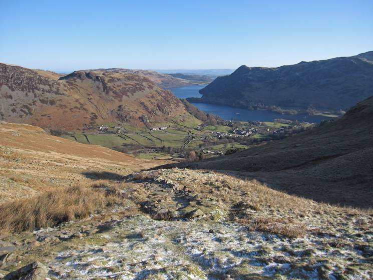 Looking back down on Glenridding from the Mires Beck path