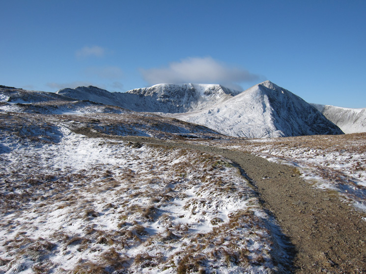Helvellyn and Catstycam come into view