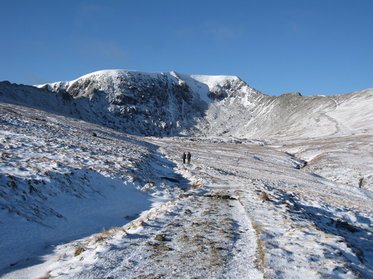 Helvellyn from the path to Red Tarn from the Hole-in-the-Wall