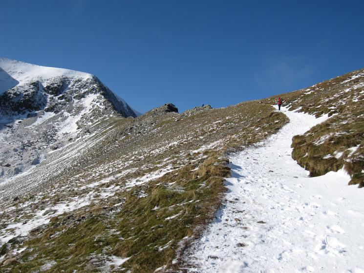 Heading up to Swirral Edge, but I'm going to visit Catstycam's summit first