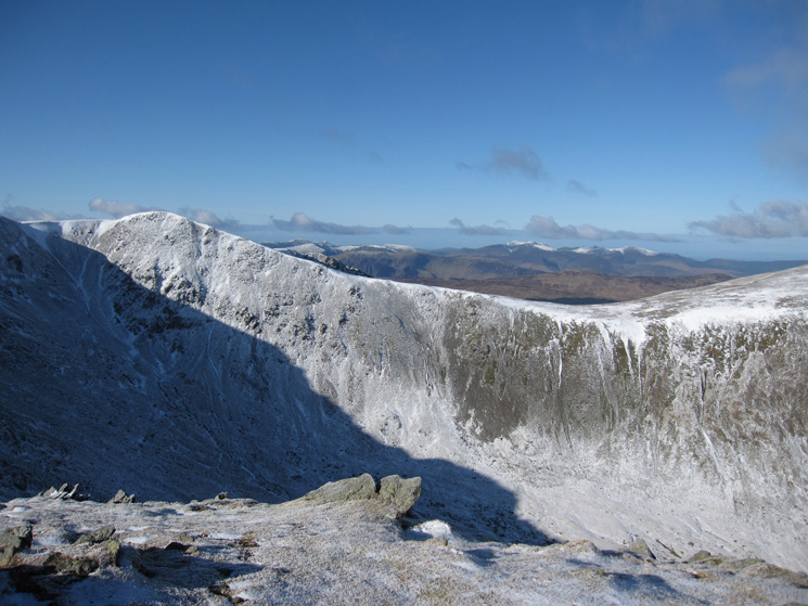 Helvellyn Lower Man and the north western fells in the distance