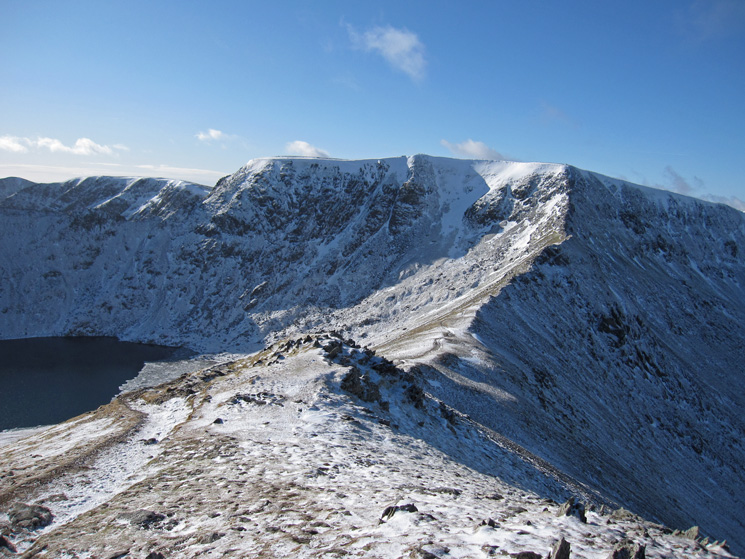 Swirral Edge and Helvellyn from Catstycam