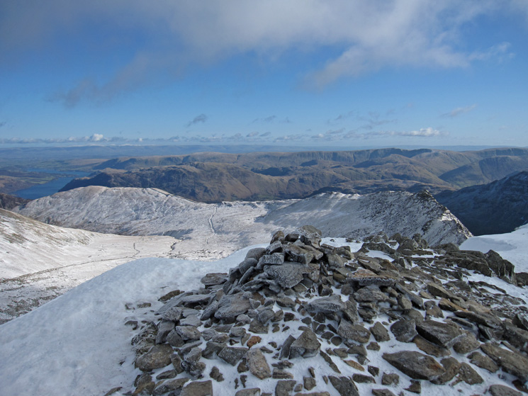 East from Helvellyn's summit