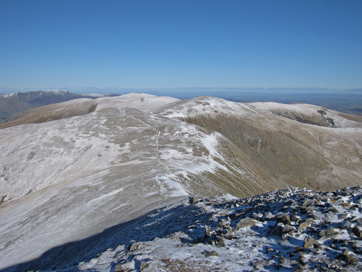 White Side and the ridge north from Helvellyn Lower Man