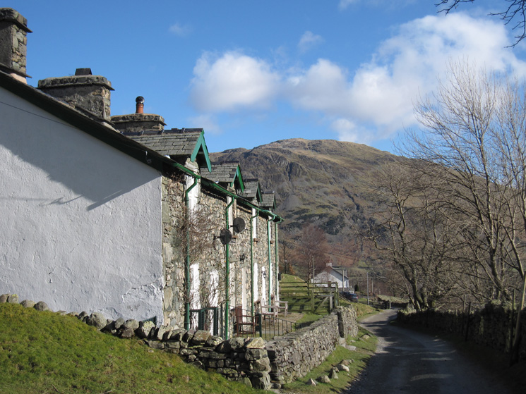 Rake Cottages, nearly back at the village