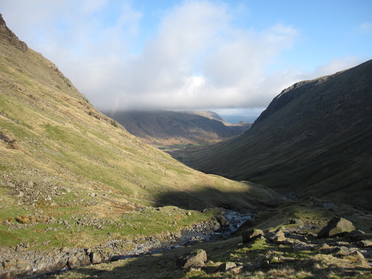 The view back down Grains Gill
