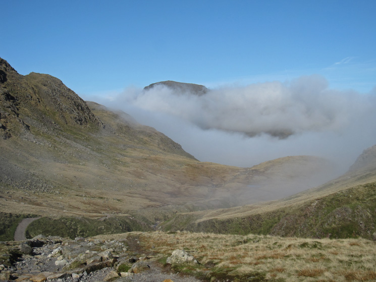 Great Gable peeks out