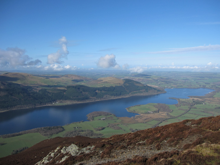 The north end of Bassenthwaite Lake from our ascent of Ullock Pike