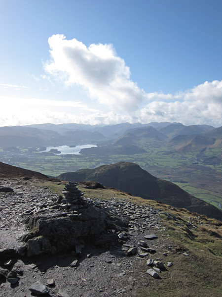 The view south from Ullock Pike's summit, the near fell is Dodd
