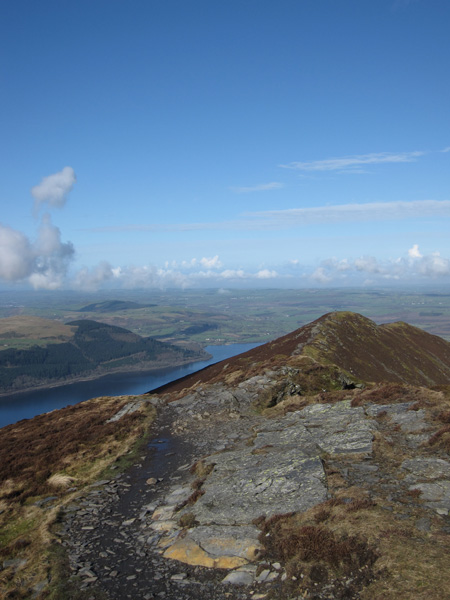 Looking back to Ullock Pike as we head for Long Side