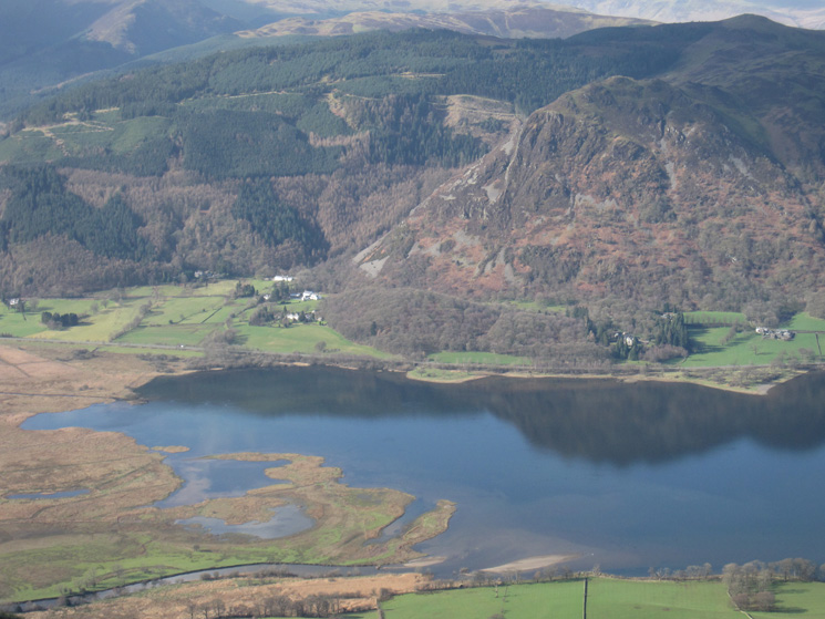 The head of Bassenthwaite Lake and Barf with Lord Seat's summit top right