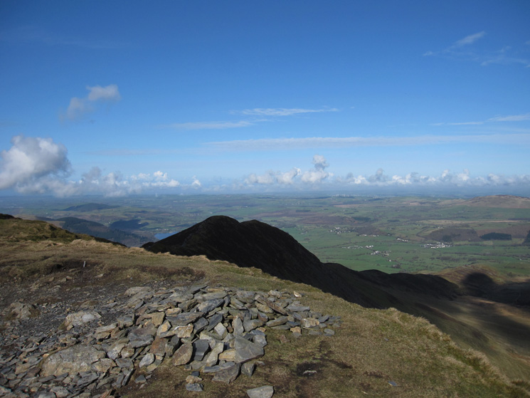 Ullock Pike in shade from Long Side's summit