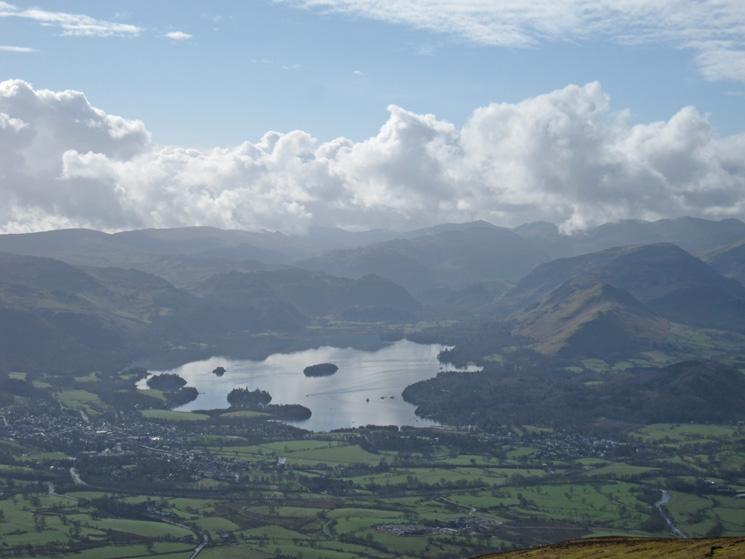 South to Derwent Water from Carl Side