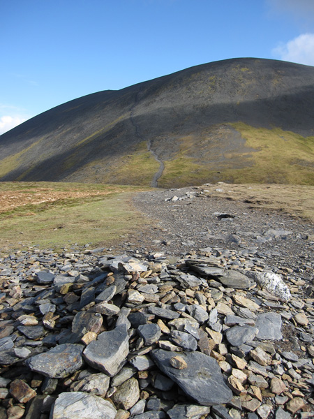 Skiddaw from Carl Side, the only way is up