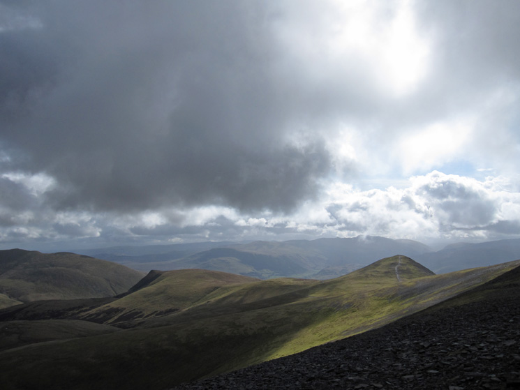 Lonscale Fell and Skiddaw Little Man from Skiddaw
