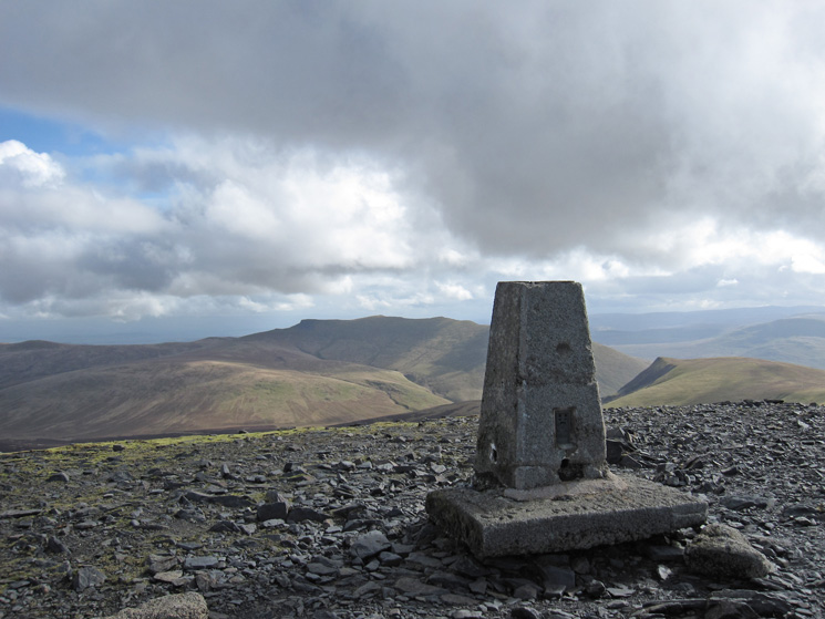 Blencathra and Lonscale Fell from Skiddaw's summit