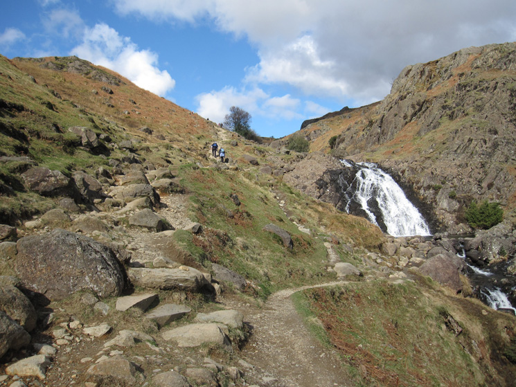 Heading up by Sourmilk Gill