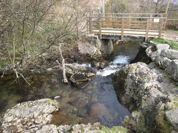 The bridge over Measand Beck on the shore side track