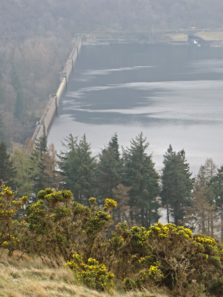 Haweswater dam, the reservoir is already low