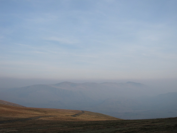 The Helvellyn ridge as I rejoin the Jenkin Hill path