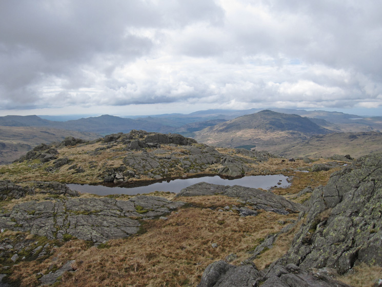 Harter Fell and the view south from Little Stand