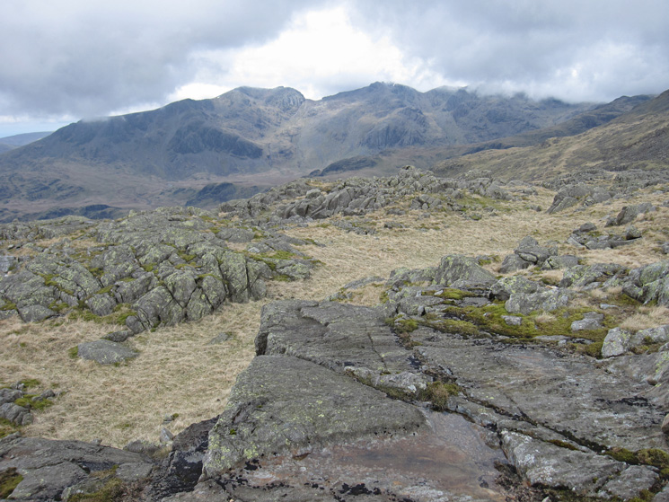 The Scafells from Little Stand