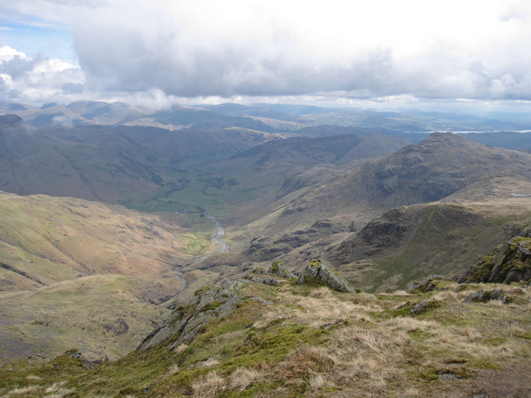 Great Langdale with Pike o'Blisco on the right