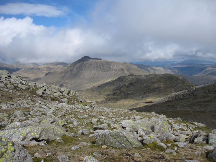 Bowfell from just below Long Top