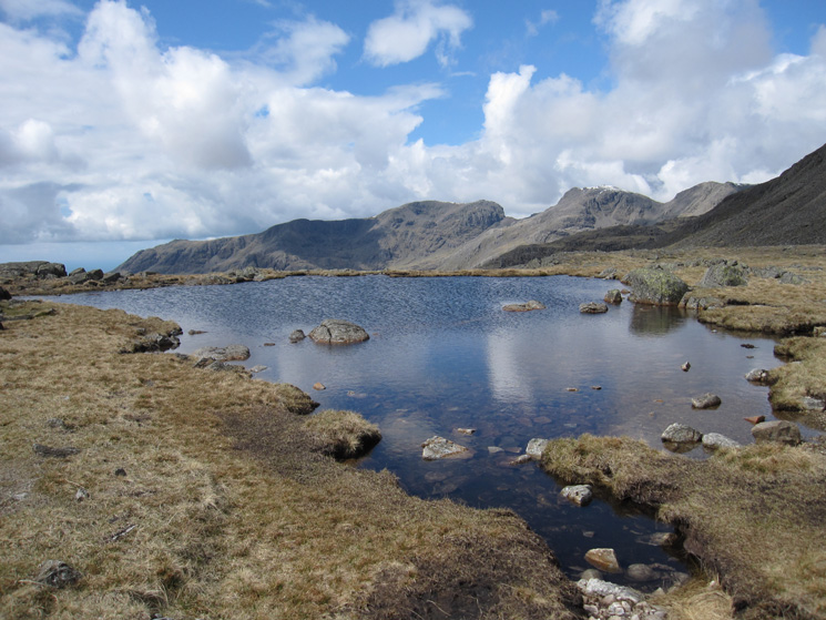 The Scafells from Three Tarns (well one of them)