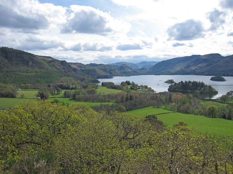 Looking south up Borrowdale from Castle Head