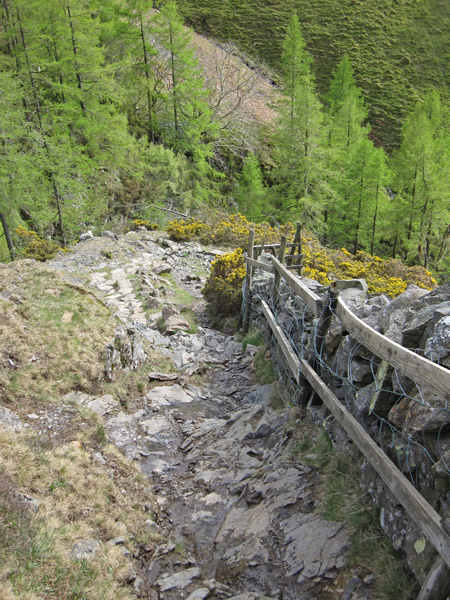 The descent into Cat Gill