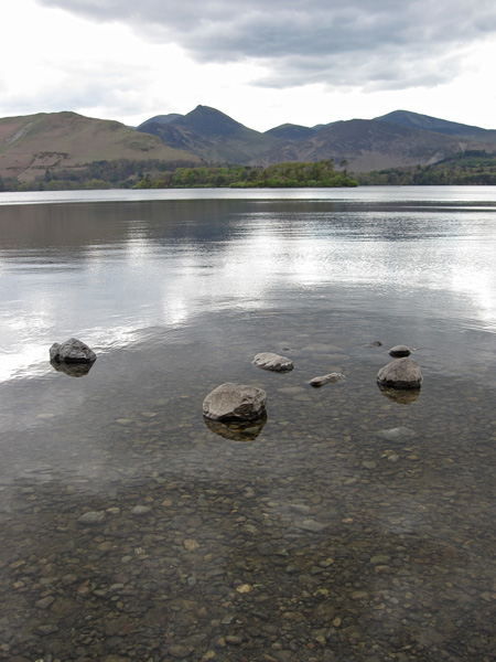 Looking across Derwent Water to Causey Pike