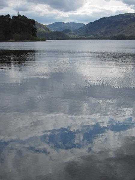 Looking up Derwent Water