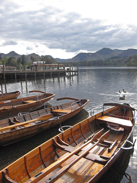 Causey Pike from Keswick landing stages, Derwent Water