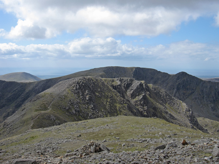 Looking back to Black Crag, Scoat Fell and Steeple from Pillar