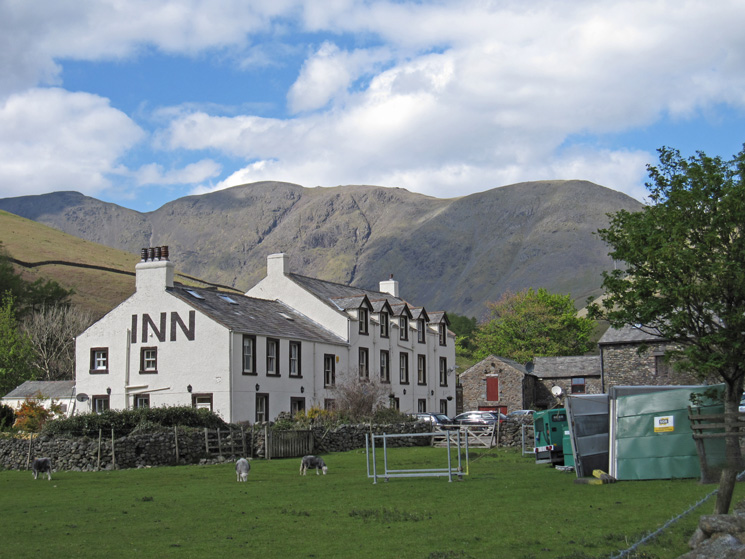 Wasdale Head Inn with Pillar behind (and generators on the right!)