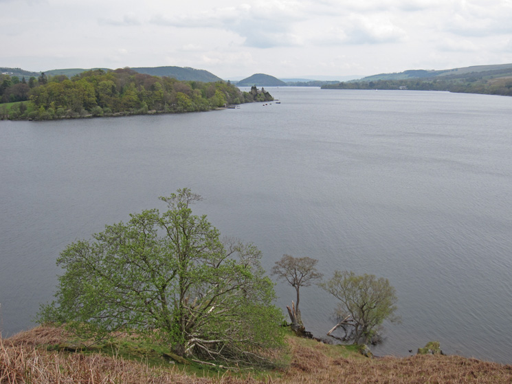 Looking down Ullswater, the conical Dunmallet in the distance