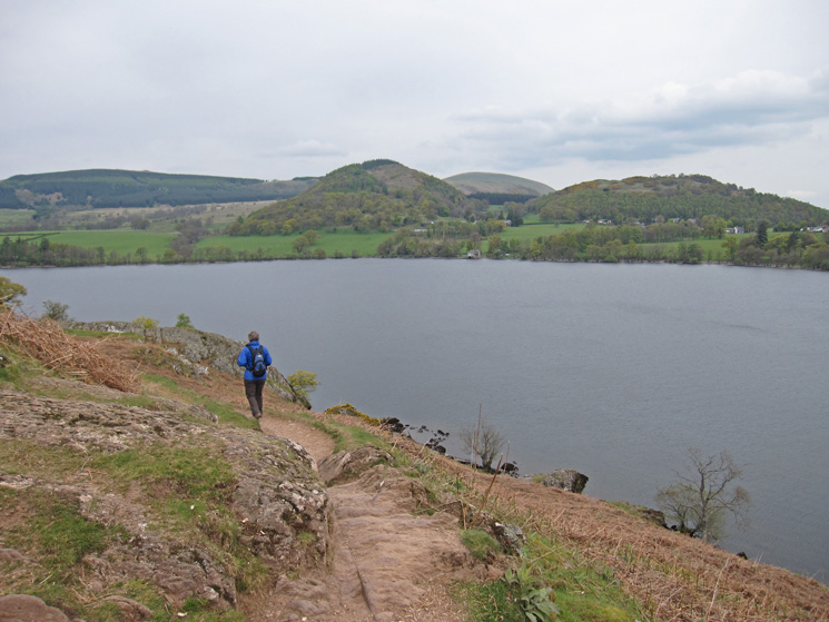 Swinburn's Park, Hagg Wood (centre) and The Knotts (right) with Little Mell Fell behind, on the far side of Ullswater